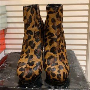 Cheetah Print Heeled Booties